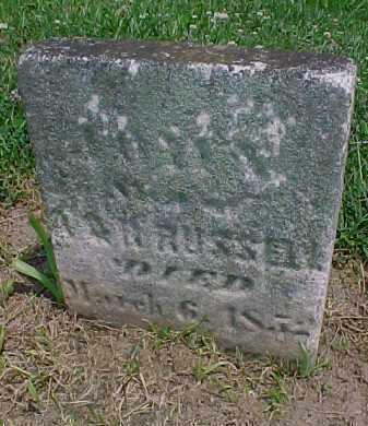 RUSSELL, JOHN - Meigs County, Ohio | JOHN RUSSELL - Ohio Gravestone Photos