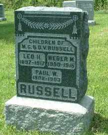 RUSSELL, WEBER M. - Meigs County, Ohio | WEBER M. RUSSELL - Ohio Gravestone Photos