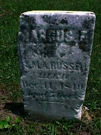 RUSSELL, MARCUS F, - Meigs County, Ohio   MARCUS F, RUSSELL - Ohio Gravestone Photos