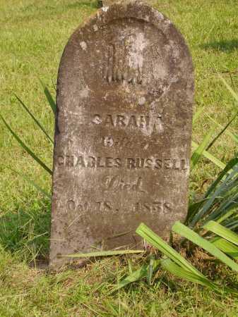 RUSSELL, SARAH A. - Meigs County, Ohio | SARAH A. RUSSELL - Ohio Gravestone Photos