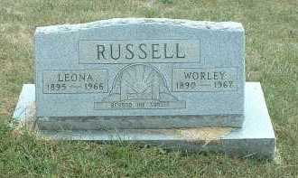 RUSSELL, WORLEY - Meigs County, Ohio | WORLEY RUSSELL - Ohio Gravestone Photos