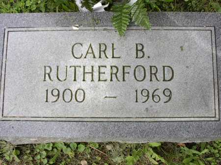 RUTHERFORD, CARL B. - Meigs County, Ohio | CARL B. RUTHERFORD - Ohio Gravestone Photos
