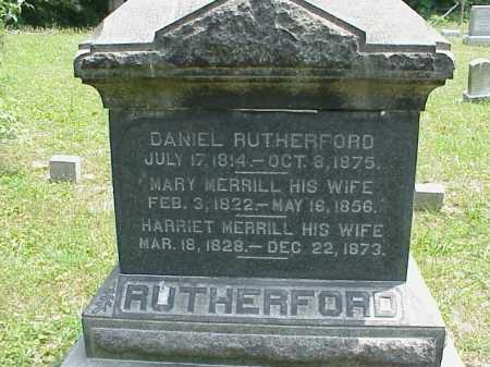 RUTHERFORD, DANIEL - Meigs County, Ohio | DANIEL RUTHERFORD - Ohio Gravestone Photos