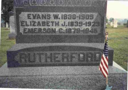 DAILEY RUTHERFORD, ELIZABETH J. - Meigs County, Ohio | ELIZABETH J. DAILEY RUTHERFORD - Ohio Gravestone Photos