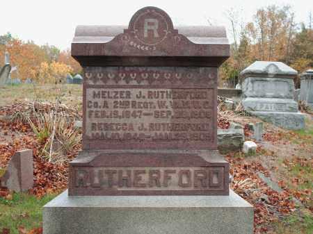 RUTHERFORD, MELZER J - Meigs County, Ohio   MELZER J RUTHERFORD - Ohio Gravestone Photos