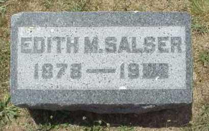 SALSER, EDITH M. - Meigs County, Ohio   EDITH M. SALSER - Ohio Gravestone Photos
