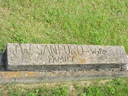 SANFORD FAMILY, J. W. - Meigs County, Ohio | J. W. SANFORD FAMILY - Ohio Gravestone Photos