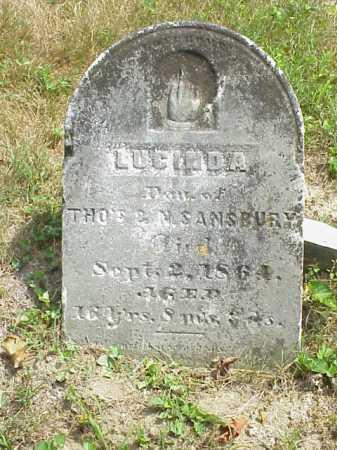 SANSBURY, LUCINDA - Meigs County, Ohio   LUCINDA SANSBURY - Ohio Gravestone Photos