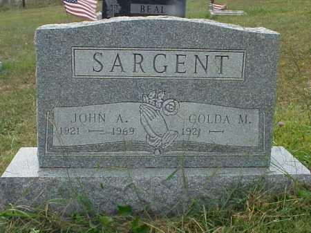 SARGENT, JOHN A. - Meigs County, Ohio | JOHN A. SARGENT - Ohio Gravestone Photos