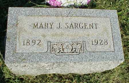 SARGENT, MARY J. - Meigs County, Ohio | MARY J. SARGENT - Ohio Gravestone Photos