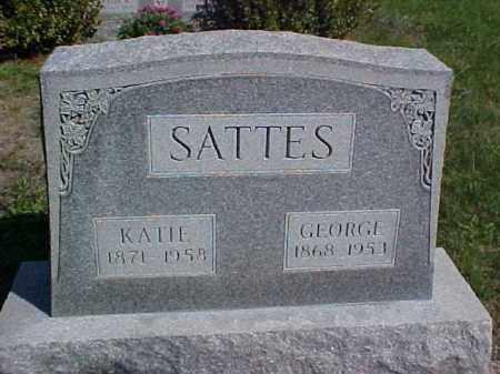 SATTES, GEORGE - Meigs County, Ohio | GEORGE SATTES - Ohio Gravestone Photos