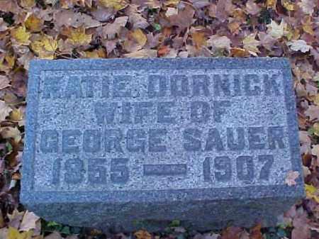 DORNICK SAUER, KATIE - Meigs County, Ohio | KATIE DORNICK SAUER - Ohio Gravestone Photos