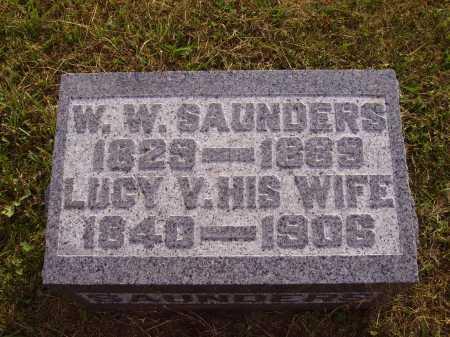 SAUNDERS, W.W. - Meigs County, Ohio | W.W. SAUNDERS - Ohio Gravestone Photos