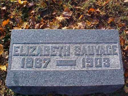 SAUVAGE, ELIZABETH - Meigs County, Ohio | ELIZABETH SAUVAGE - Ohio Gravestone Photos