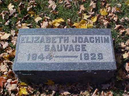 JOACHIM SAUVAGE, ELIZABETH - Meigs County, Ohio | ELIZABETH JOACHIM SAUVAGE - Ohio Gravestone Photos