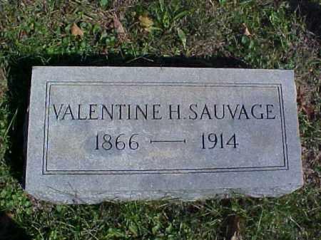SAUVAGE, VALENTINE H. - Meigs County, Ohio | VALENTINE H. SAUVAGE - Ohio Gravestone Photos