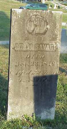 SAVAGE, ADAM - Meigs County, Ohio | ADAM SAVAGE - Ohio Gravestone Photos
