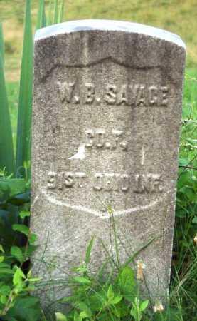 SAVAGE, W. B. - Meigs County, Ohio | W. B. SAVAGE - Ohio Gravestone Photos