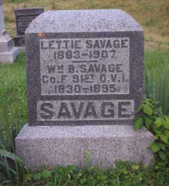 SAVAGE, WILLIAM B. - Meigs County, Ohio | WILLIAM B. SAVAGE - Ohio Gravestone Photos