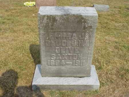 SAXTON, EMMA J. - Meigs County, Ohio   EMMA J. SAXTON - Ohio Gravestone Photos