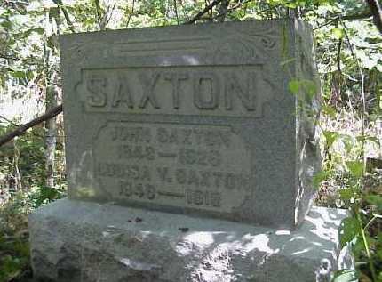 SAXTON, LOUISA V. - Meigs County, Ohio   LOUISA V. SAXTON - Ohio Gravestone Photos