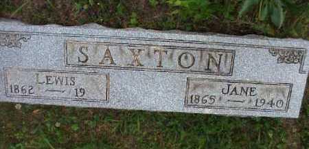 SAXTON, LEWIS - Meigs County, Ohio | LEWIS SAXTON - Ohio Gravestone Photos