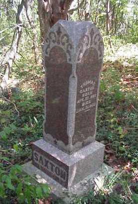 SAXTON, THOMAS - Meigs County, Ohio | THOMAS SAXTON - Ohio Gravestone Photos