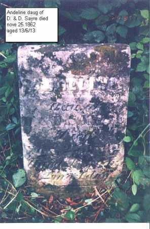 SAYRE, ANGELINE - Meigs County, Ohio   ANGELINE SAYRE - Ohio Gravestone Photos