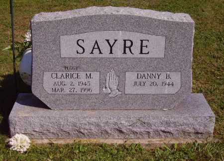 """WEBB SAYRE, CLARICE MARGARET """"PEGGY"""" - FRONT OF STONE - Meigs County, Ohio 