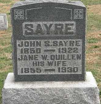 SAYRE, JANE W. - Meigs County, Ohio | JANE W. SAYRE - Ohio Gravestone Photos
