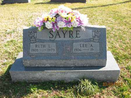 SAYRE, LEE A - Meigs County, Ohio | LEE A SAYRE - Ohio Gravestone Photos