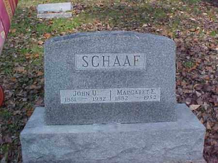 SCHAAF, JOHN U. - Meigs County, Ohio | JOHN U. SCHAAF - Ohio Gravestone Photos