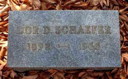 SCHAEFER, DOR D. - Meigs County, Ohio   DOR D. SCHAEFER - Ohio Gravestone Photos