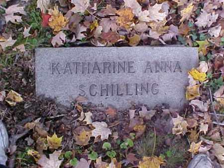 SCHILLING, KATHARINE ANNA - Meigs County, Ohio | KATHARINE ANNA SCHILLING - Ohio Gravestone Photos