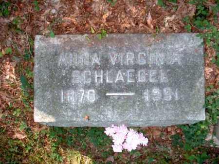 SCHLAEGEL, ANNA VIRGINIA - Meigs County, Ohio   ANNA VIRGINIA SCHLAEGEL - Ohio Gravestone Photos