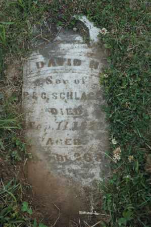 SCHLAGEL, DAVID H. - Meigs County, Ohio   DAVID H. SCHLAGEL - Ohio Gravestone Photos