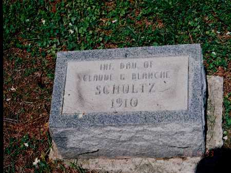 SCHULTZ, INFANT DAU. - Meigs County, Ohio   INFANT DAU. SCHULTZ - Ohio Gravestone Photos