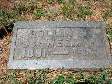 SCHWEGMAN, ROLLIN W. - Meigs County, Ohio | ROLLIN W. SCHWEGMAN - Ohio Gravestone Photos