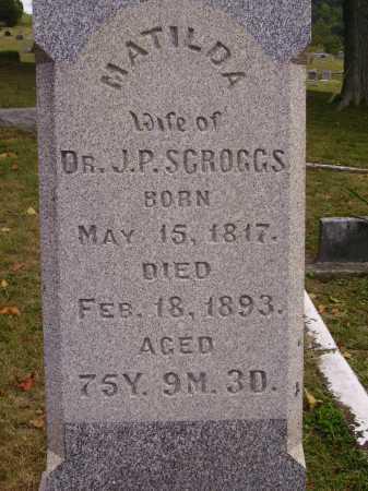 SCROGGS, MATILDA - CLOSE VIEW - Meigs County, Ohio | MATILDA - CLOSE VIEW SCROGGS - Ohio Gravestone Photos
