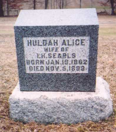 SEARLS, HULDA ALICE - Meigs County, Ohio | HULDA ALICE SEARLS - Ohio Gravestone Photos
