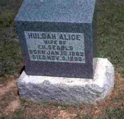 SEARLS, HULDAH ALICE - Meigs County, Ohio   HULDAH ALICE SEARLS - Ohio Gravestone Photos