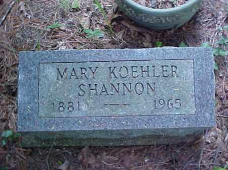 SHANNON, MARY - Meigs County, Ohio | MARY SHANNON - Ohio Gravestone Photos