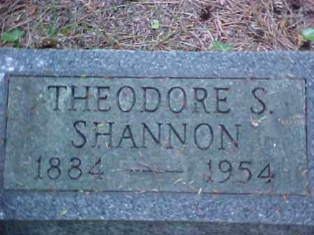 SHANNON, THEODORE S. - Meigs County, Ohio   THEODORE S. SHANNON - Ohio Gravestone Photos