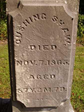 SHAW, CUSHING - Meigs County, Ohio | CUSHING SHAW - Ohio Gravestone Photos