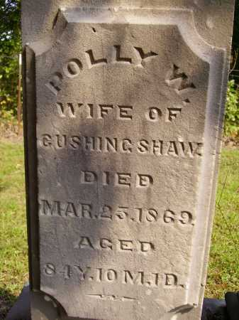 SHAW, POLLY W. - Meigs County, Ohio | POLLY W. SHAW - Ohio Gravestone Photos