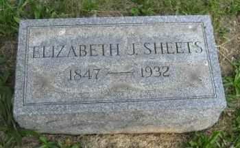SHEETS, ELIZABETH J - Meigs County, Ohio   ELIZABETH J SHEETS - Ohio Gravestone Photos