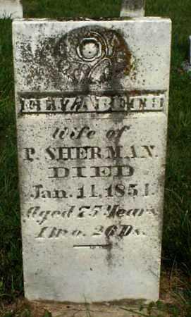SHERMAN, ELIZABETH - Meigs County, Ohio | ELIZABETH SHERMAN - Ohio Gravestone Photos