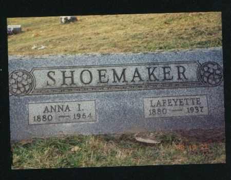 SHOEMAKER, ANNA ISABELLE - Meigs County, Ohio | ANNA ISABELLE SHOEMAKER - Ohio Gravestone Photos