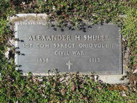 SHULER, ALEXANDER H - Meigs County, Ohio   ALEXANDER H SHULER - Ohio Gravestone Photos