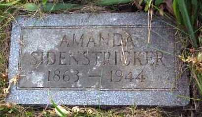 SIDENSTRICKER, AMANDA - Meigs County, Ohio | AMANDA SIDENSTRICKER - Ohio Gravestone Photos